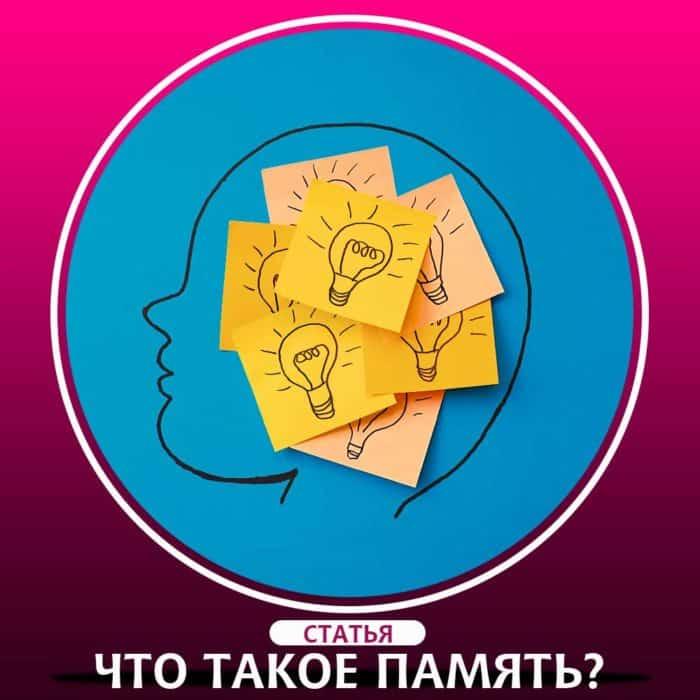 Память человека, ее значение, виды памяти и их особенности.